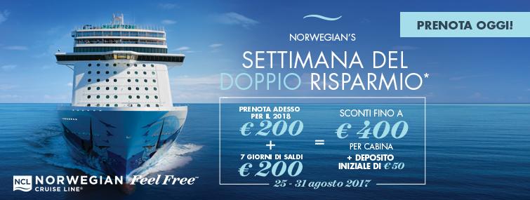 Settimana del doppio risparmio Norwegian Cruise Line