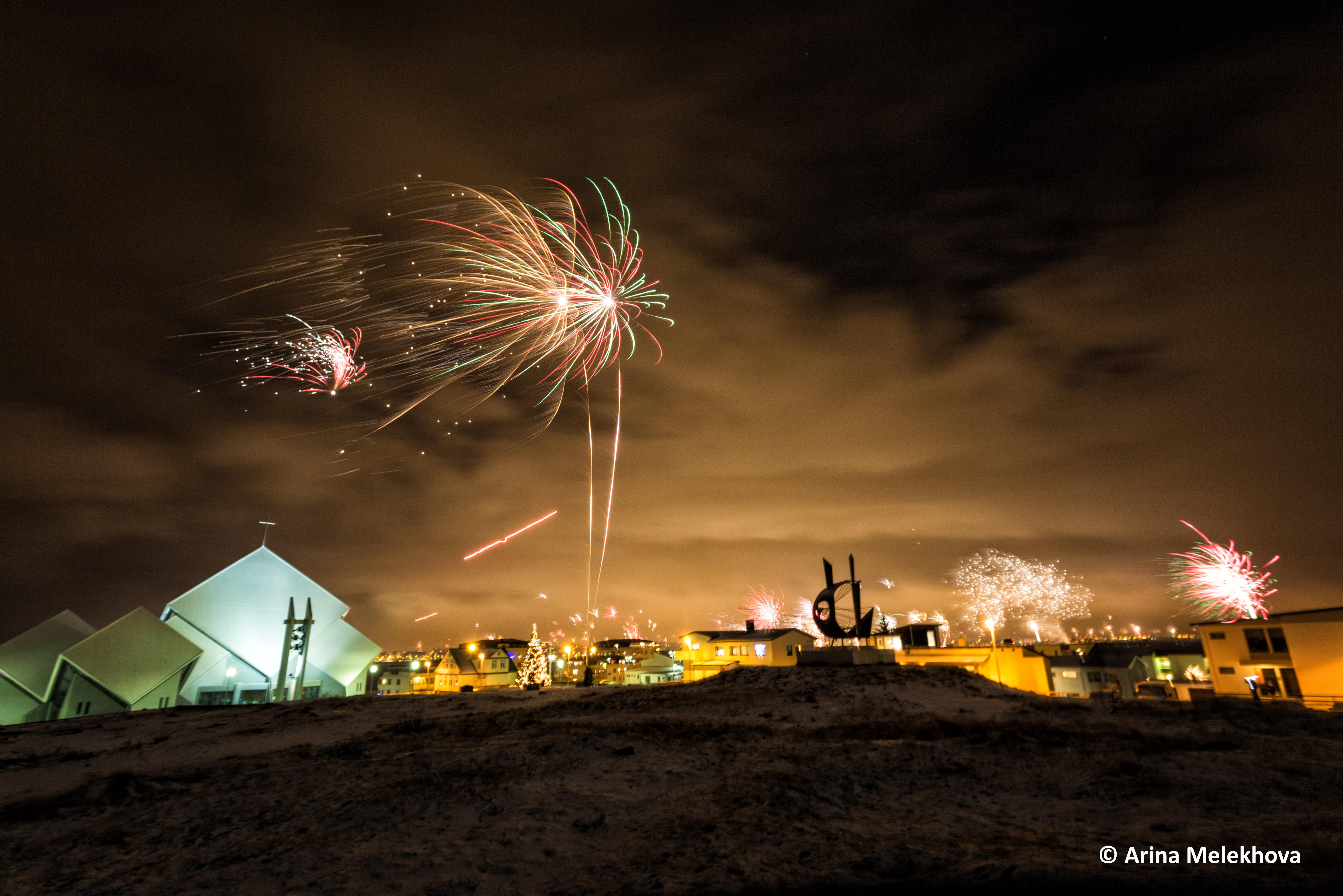 Capodanno in città Reykjavik, Islanda