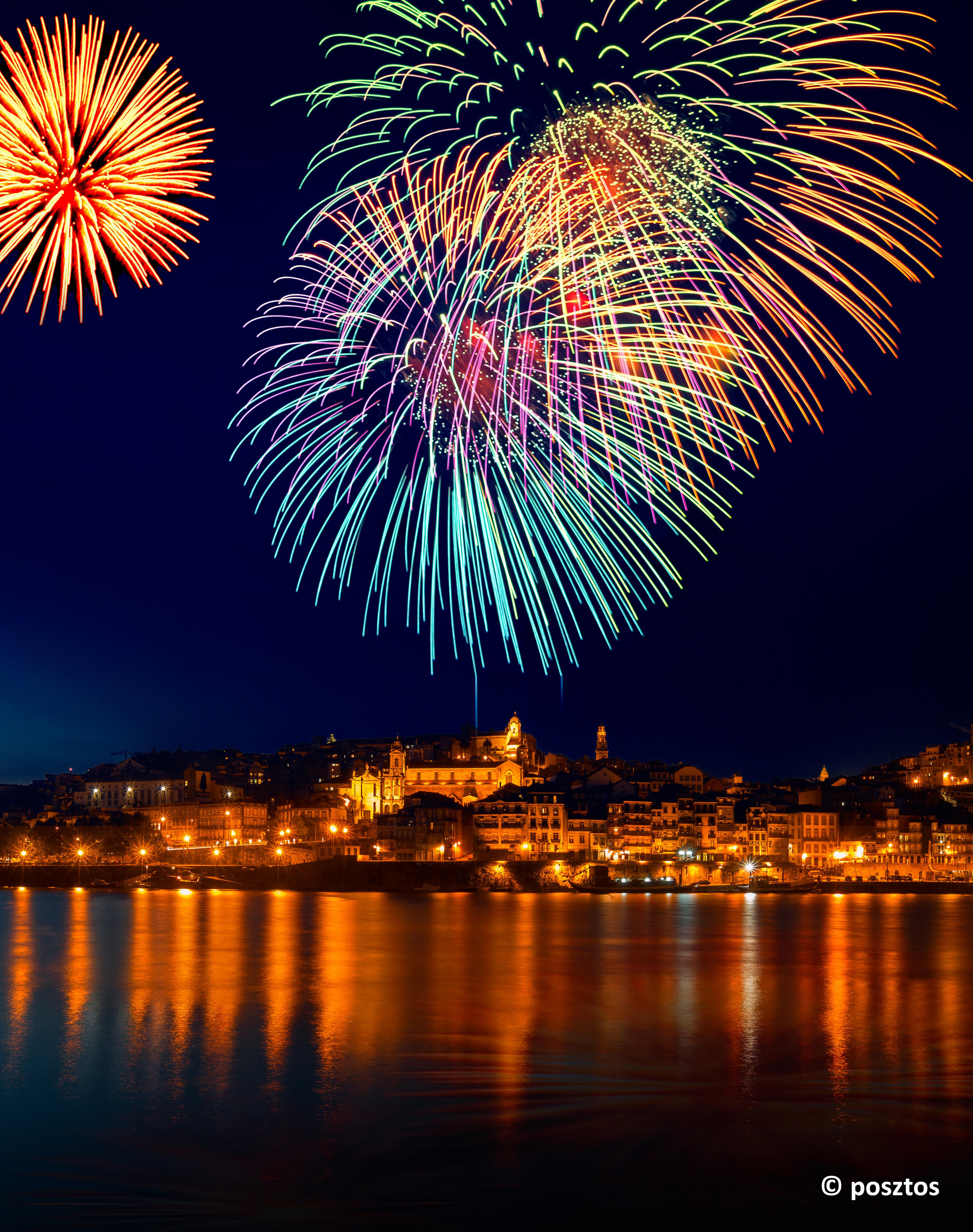 Capodanno in città Porto, Portogallo